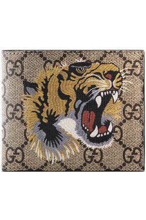 Gucci Cartera GG Supreme con estampado de tigre
