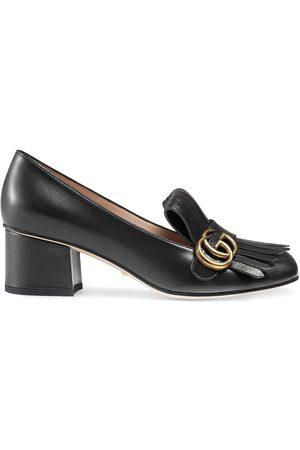 Gucci Zapatos de tacón Monogram con flecos
