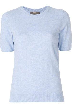 N.PEAL Mujer Jerséis - Camiseta con cuello redondo
