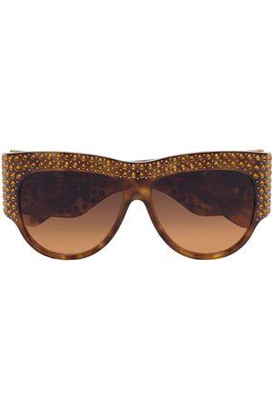 Gucci Gafas de sol oversize con detalles de cristal