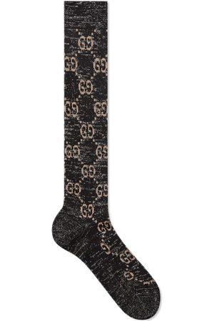 Gucci Calcetines de lúrex con G entrelazada