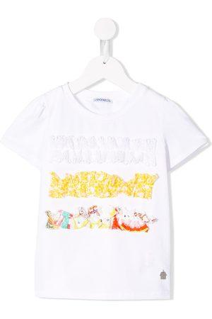 Simonetta Camiseta con apliques de volantes