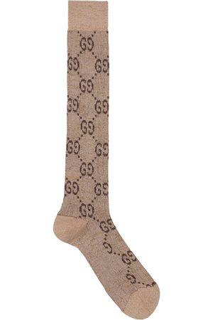 Gucci Calcetines de lurex con logo G entrelazado