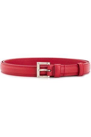 Prada Cinturón de piel Saffiano con hebilla cuadrada