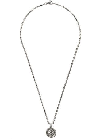 David Yurman Amuleto Maritime Compass con diamante negro