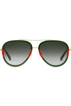 Gucci Eyewear Gafas de sol estilo aviador de dos tonos