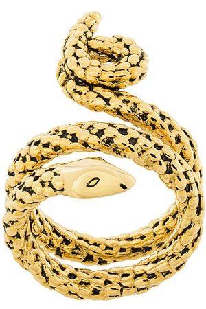 Aurélie Bidermann Anillo cruzado con diseño de serpiente