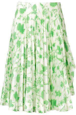 Calvin Klein Falda con motivo floral y pliegues