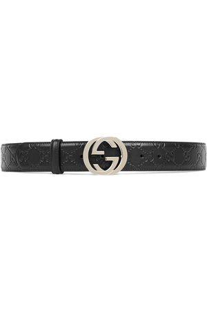 Gucci Cinturón de piel con hebilla de G Signature