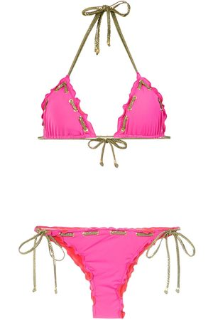 AMIR SLAMA Bikini con detalles de costuras