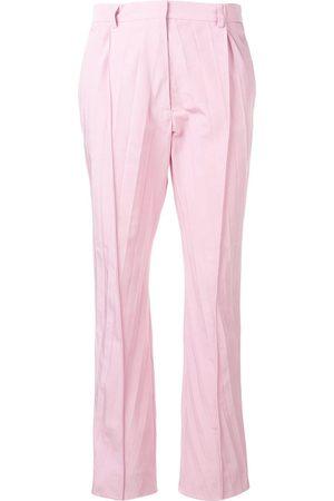 VALENTINO Pantalones capri con pliegues