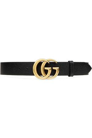 Gucci Cinturón de piel con hebilla de doble G