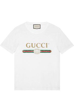 Gucci Camiseta con efecto lavado y estampado