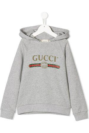 Gucci Sudadera con logo vintage y capucha