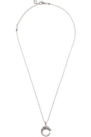 John Hardy Collar Naga ajustable en plata de ley con zafiros