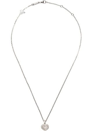 Chopard Collar Happy Hearts con colgante con diamantes en oro blanco 18kt