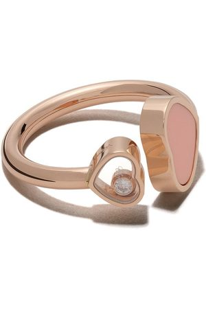 Chopard Anillo Happy Hearts con diamantes en oro rosa de 18kt