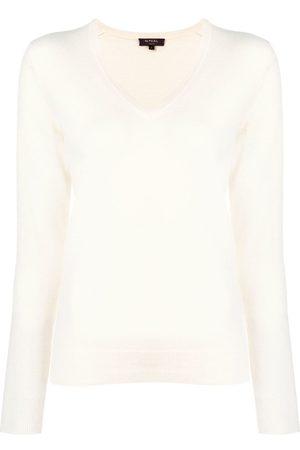 N.PEAL Mujer Jerséis y suéteres - Jersey con cuello en V