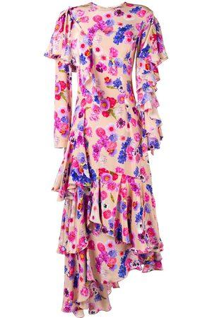 Natasha Zinko Vestido asimétrico con motivo floral