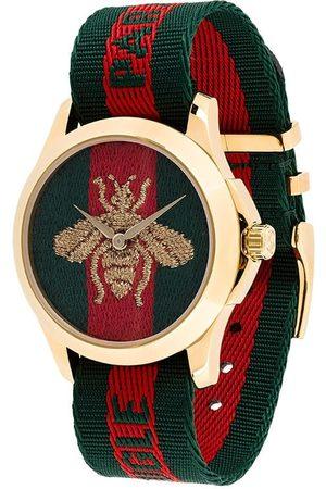 Gucci Reloj con correa de tela y detalle de abeja
