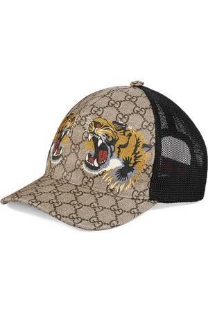 Gucci Gorra de béisbol GG Supreme con estampado de tigre