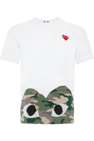 Comme des Garçons Camiseta con estampado de corazón