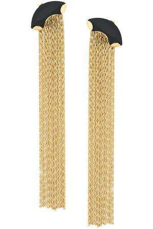 WOUTERS & HENDRIX Pendientes con forma de cadena y ónice