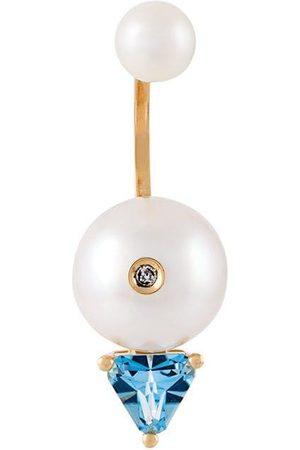 """DELFINA DELETTREZ Pendiente con perlas, topacio y diamante """"Trillion"""""""