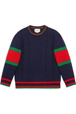 Gucci Jersey infantil de lana de punto de cable