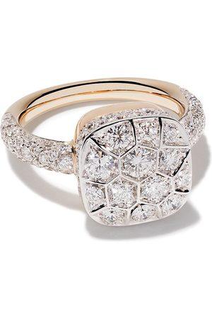 Pomellato Anillo Nudo en oro rosa y oro blanco 18kt con diamantes