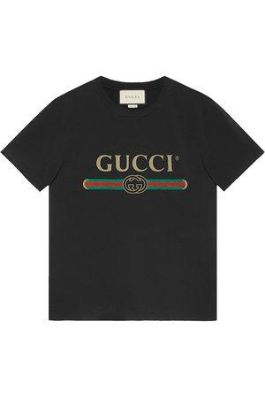 Gucci Camiseta con logo estilo lavado