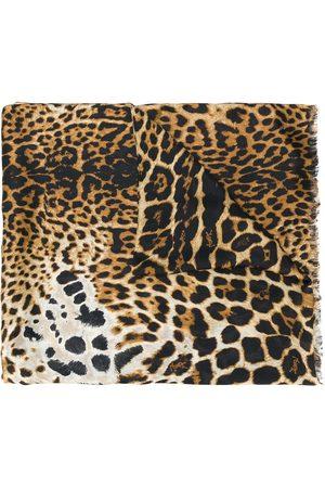 Saint Laurent Fular con estampado de leopardo