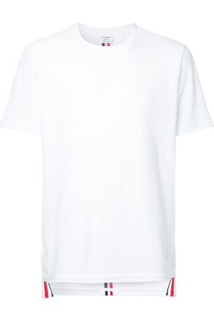 Thom Browne Camiseta de piqué con ribetes a rayas