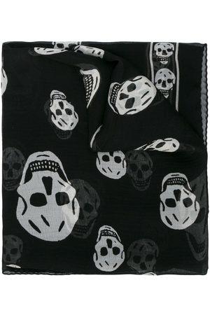 Alexander McQueen Pañuelo con diseño de calaveras
