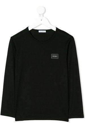 Dolce & Gabbana Top de manga larga con placa del logo