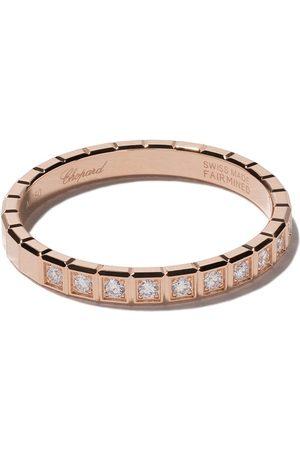 Chopard Anillo Ice Cube con diamantes en oro rosa 18kt