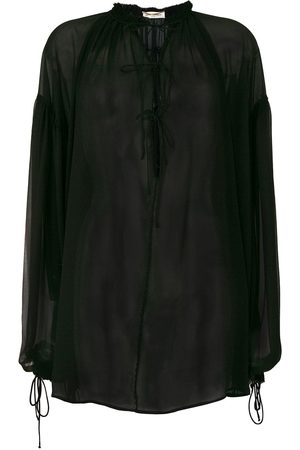 Saint Laurent Blusa transparente