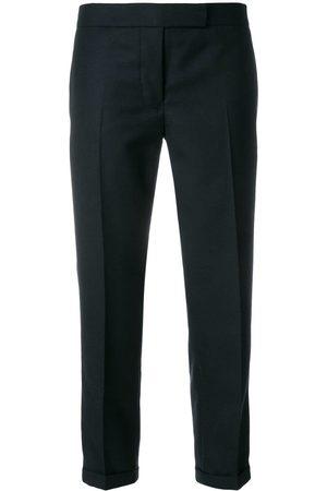 Thom Browne Pantalones de talle bajo con detalle de rayas