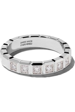 Chopard Anillo con diamantes Ice Cube en oro blanco de 18kt