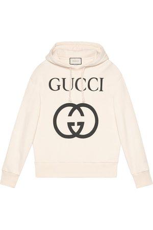 Gucci Sudadera con capucha y logo GG entrelazado