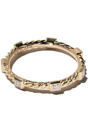 David Yurman Anillo Cable Collectibles Cable con diamantes en oro 18kt
