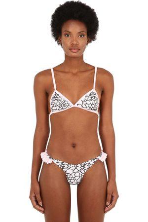 "JUST SAUCED   Mujer Top De Bikini ""mimi"" Con Estampado Leopardo Xs"