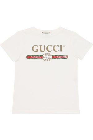 Gucci Camiseta De Jersey De Algodón Estampada