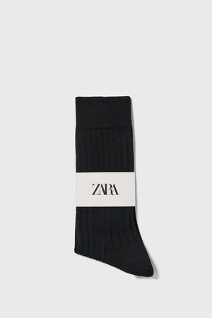 Zara Calcetín canalé mercerizado premium