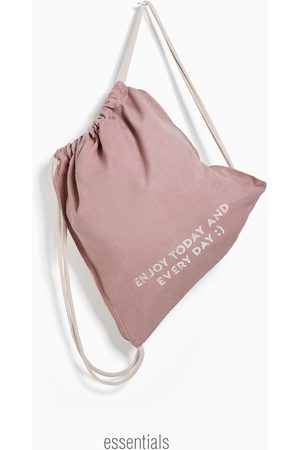 Zara Saco algodón estampado