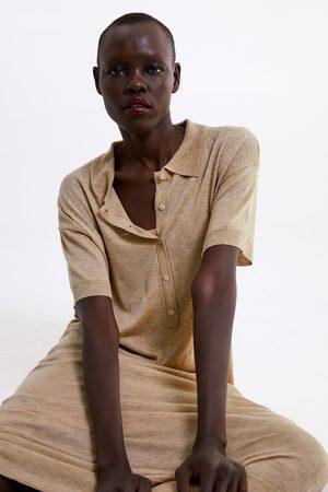Zara Mujer De punto - Vestido punto largo