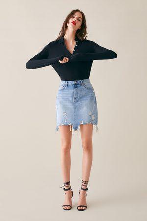 Zara Mujer Minifaldas - Falda zw premium mini sunset blue