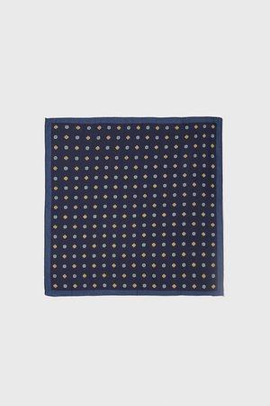 Zara Hombre Bufandas y Pañuelos - Pañuelo bolsillo estampación geométrica