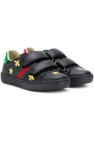 Gucci Zapatillas con motivo Bee y tribanda Web