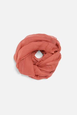 Zara Mujer Bufandas y Pañuelos - Pañuelo lino